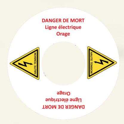 sticker rond Danger de mort