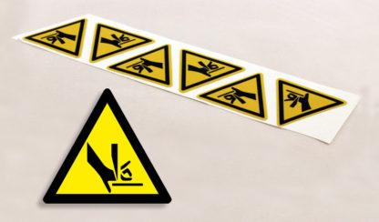 stickers Danger risque de coupure